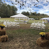 Wedding arrangement at Events by the River